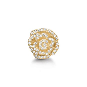 STORY by Kranz & Ziegler Gold-Plated Crystal Rose Button