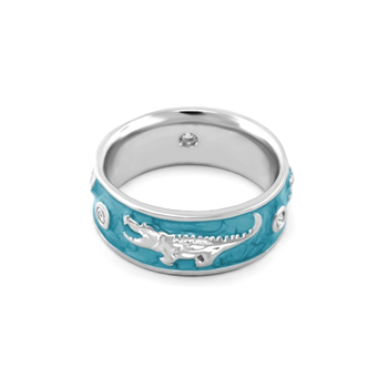 Blue 'Animal Paradise' Ring-343764