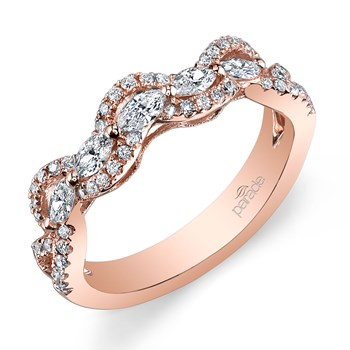 Parade Rose Gold Diamond Band-348402