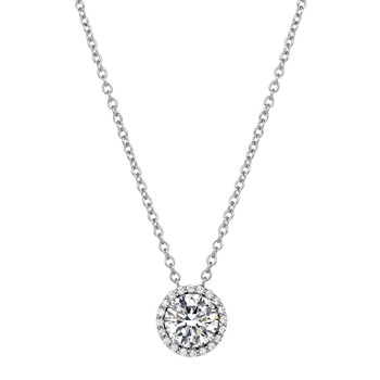 Simulated Diamond Birthstone Necklace-235-493