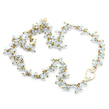 Aquamarine Cloud Necklace-235-598