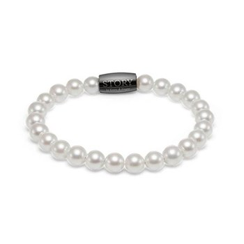 STORY by Kranz & Ziegler White 7mm Pearl Single Wrap Bracelet