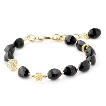 Lollies Black Agate Bracelet 346018