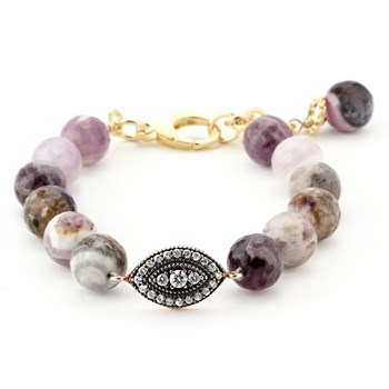 Lollies Purple Agate Bracelet 344588