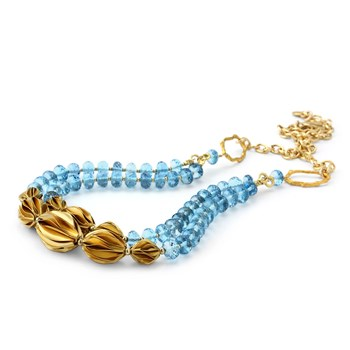 Blue Topaz Necklace-235-585