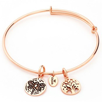 Tree of Life Rose Gold Bangle