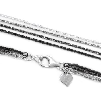 18'' 4 Strand Rope Necklace-342045
