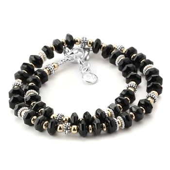 Black Agate Double Wrap Bracelet-348271