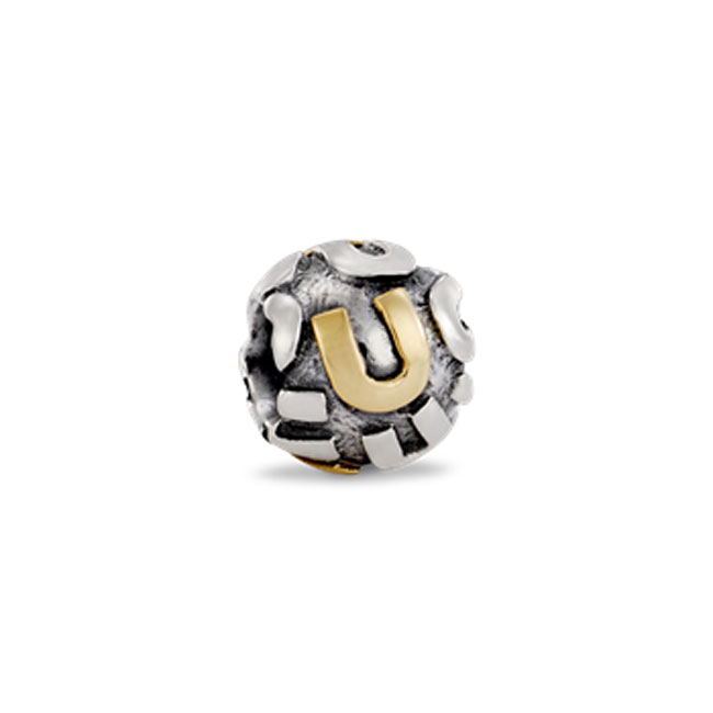 191791-PANDORA 'U' Charm RETIRED LIMITED QUANTITIES!