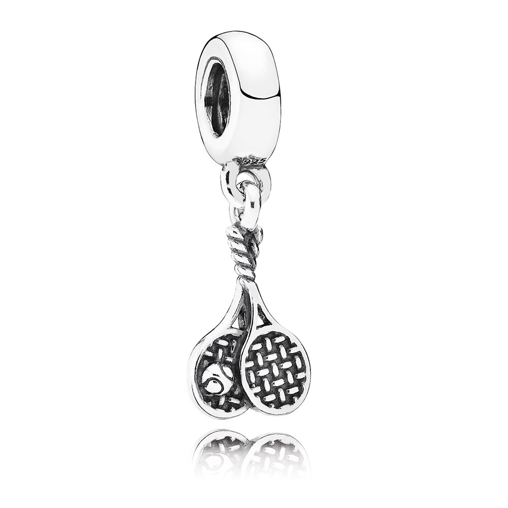 802-2869-PANDORA Game, Set, Match Tennis Dangle RETIRED LIMITED QUANTITIES!