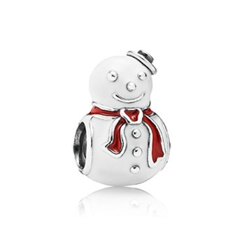802-1743-PANDORA Happy Snowman with Enamel Charm