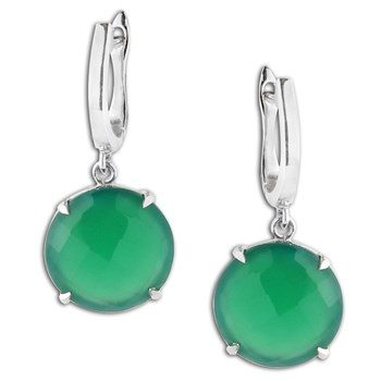 347428-Green Onyx Earrings