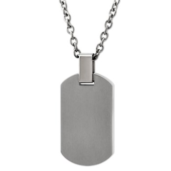Signature Dog Tag Necklace-340772