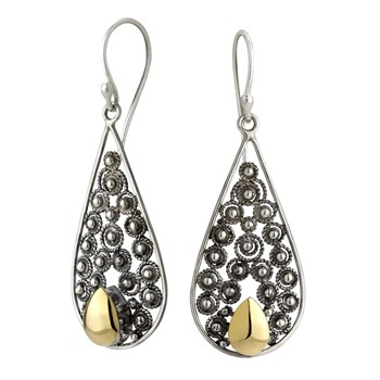 Teardrop Openwork Earrings-645-3191