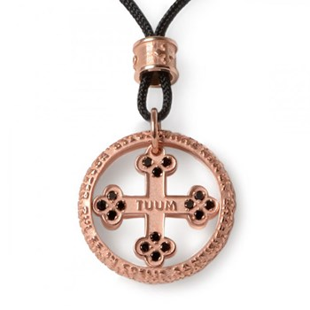 Our Father Flore Rose Gold & Black Diamond Necklace