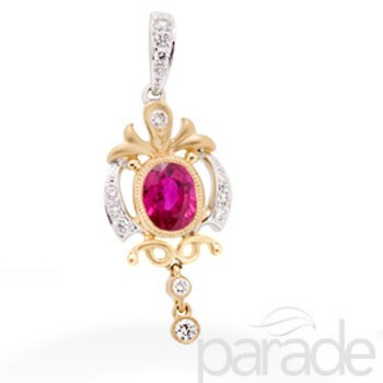 347696-Diamond & Ruby Pendant