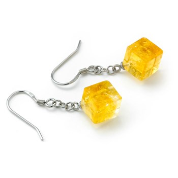 Citrine Cube Earrings-645-779