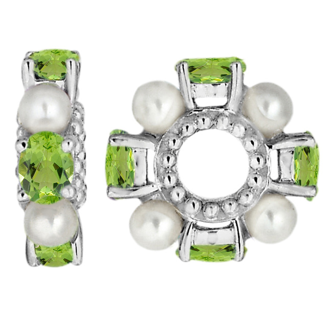 333351-Storywheels Peridot & Pearl Sterling Silver Wheel