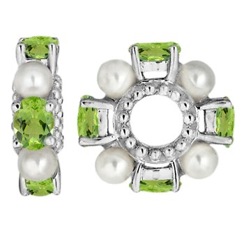Storywheels Peridot & Pearl Sterling Silver Wheel-333351
