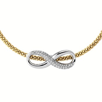 Yellow Infinity Necklace-344925