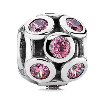 342909-PANDORA Whimsical Lights with Pink CZ Charm RETIRED