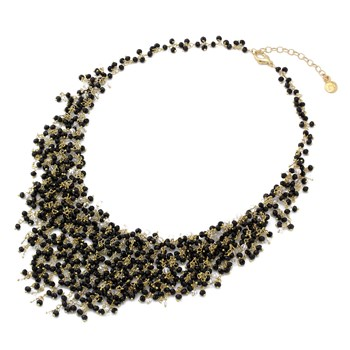 235-448- Onyx & Quartz Necklace