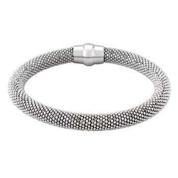 Sterling Silver Rhodium Bangle-343262