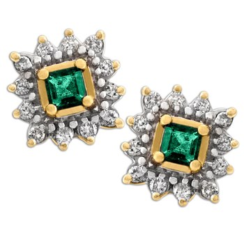Emerald & Diamond Earrings-320955