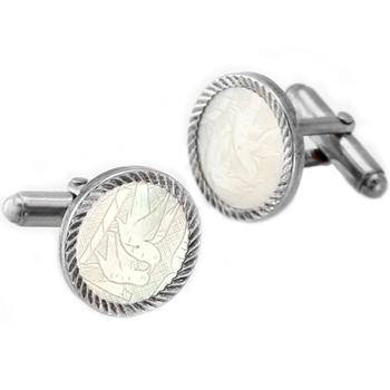332670-Carved Bird Desgin Cufflinks