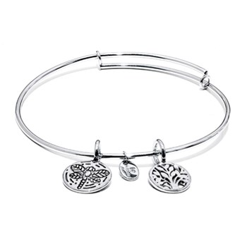 Tree of Life Silver Bangle
