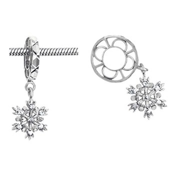 278560-Storywheels Diamond Snowflake Dangle 14K White Gold Wheel ONLY 1 AVAILABLE!
