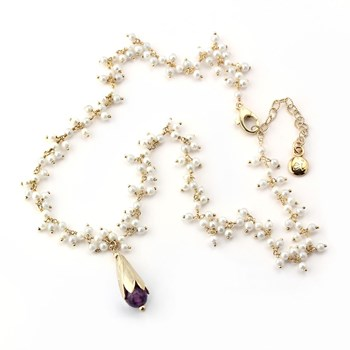 348486-Amethyst & Pearl Necklace