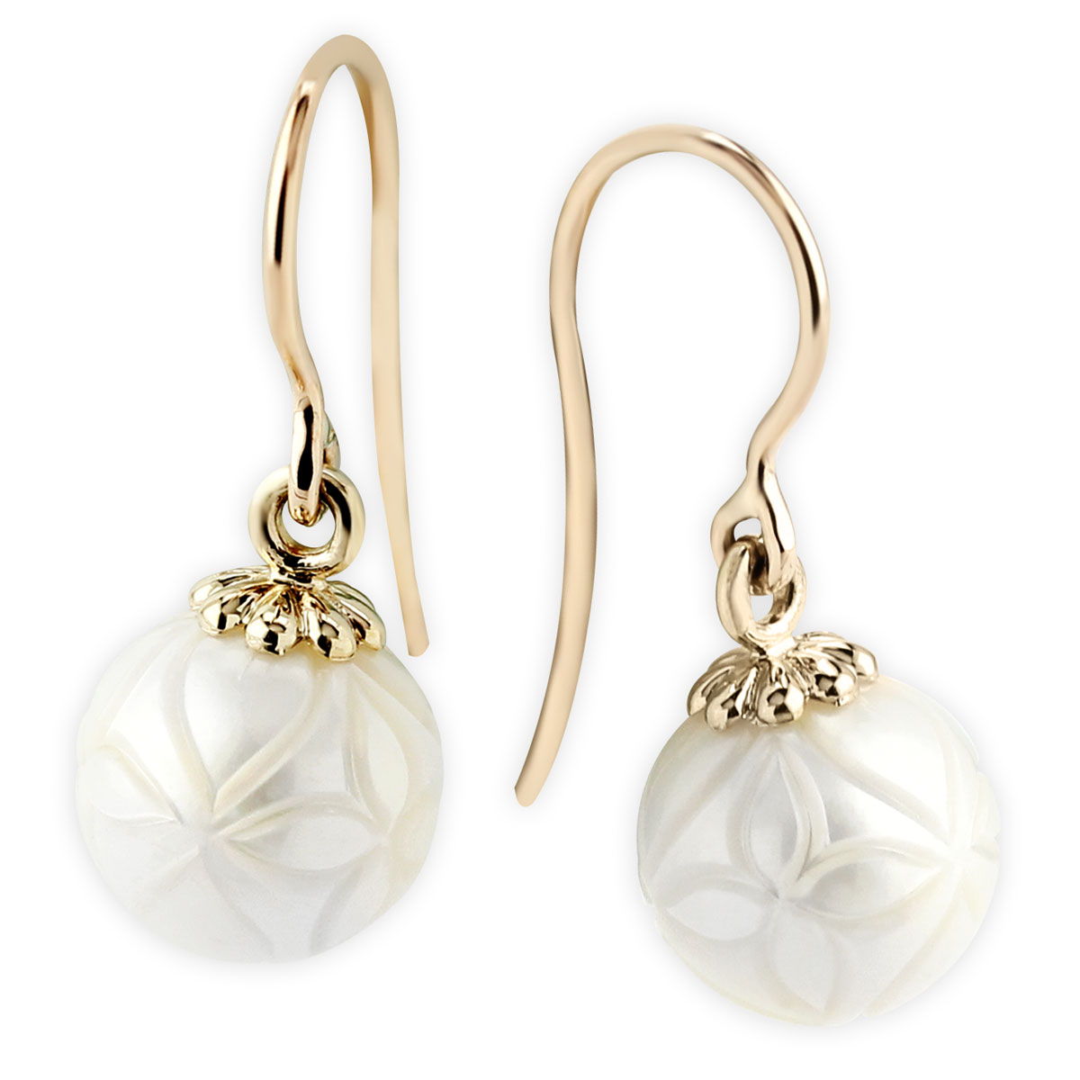 342106-Galatea Harlequin Design Pearls YG Earrings
