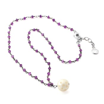Pearl & Amethyst Necklace-347609