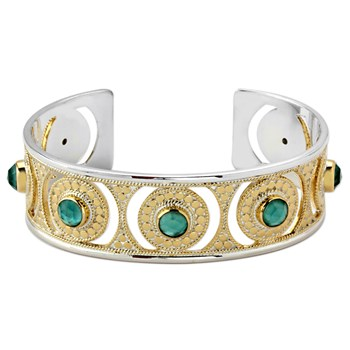 345288-Green Amethyst Bangle