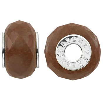 333773-Storywheels Faceted Cinnamon Red Jasper Sterling Silver Wheel ONLY 3 AVAILABLE!