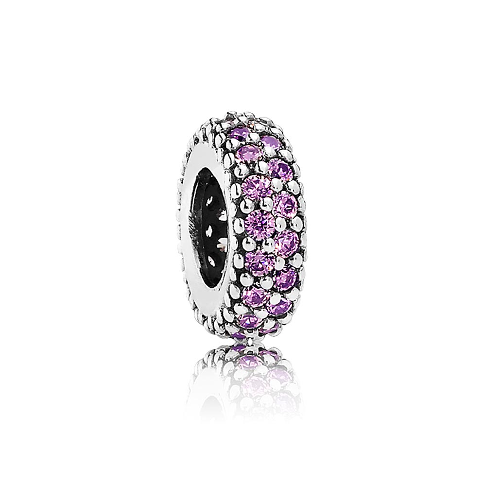 802-2840-PANDORA Inspiration Within with Purple CZ Spacer