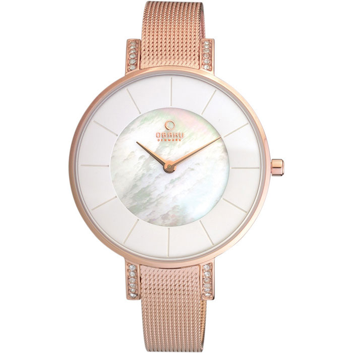 500-28-Obaku Women's Rose Gold Mesh Watch
