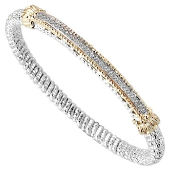 Slim Bar Diamond Bracelet-344530
