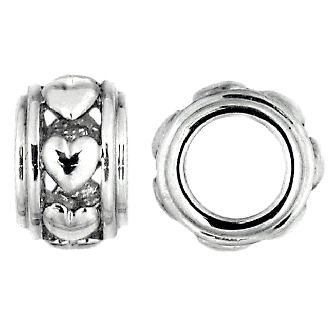 262798-Storywheels Heart Spacer 14K White Gold Wheel ONLY 1 AVAILABLE!