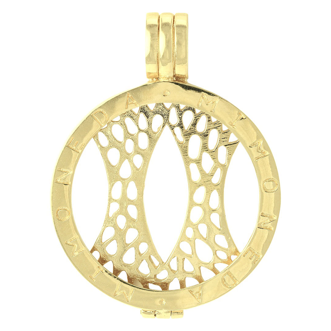 Mi Moneda Gold-Plated Pendant Holder - LIMITED QUANTITIES