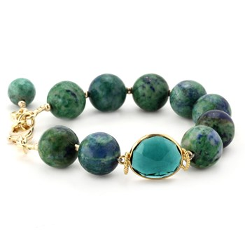 Lollies Azurite & Malachite Bracelet 344585