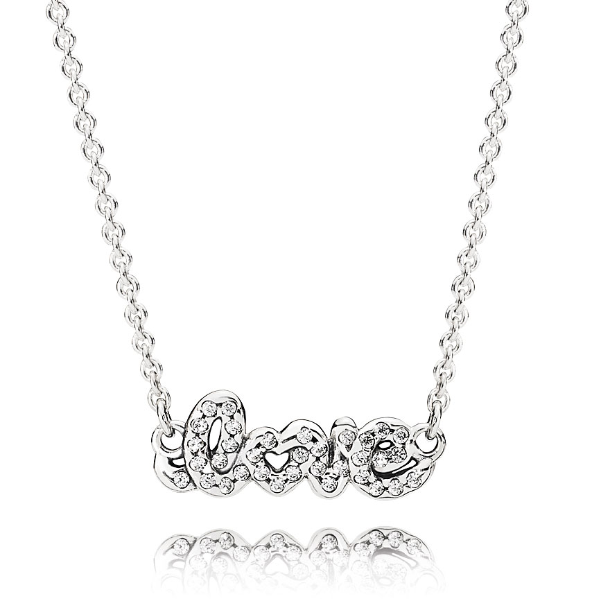 PANDORA Signature of Love Necklace-349100