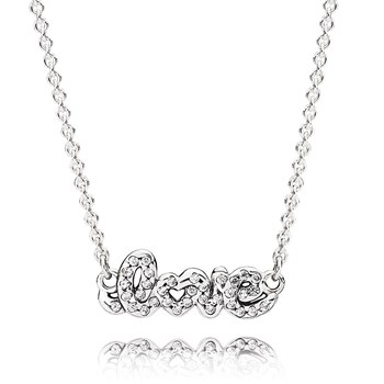 349100-PANDORA Signature of Love Necklace