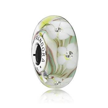 802-2874-PANDORA Wild Flowers Murano Glass