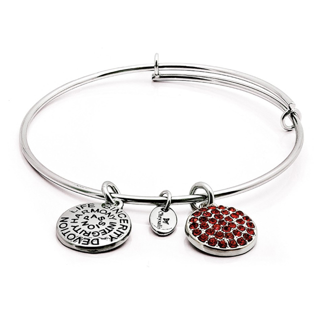JULY Ruby Crystal Bangle - Chrysalis Good Fortune Collection