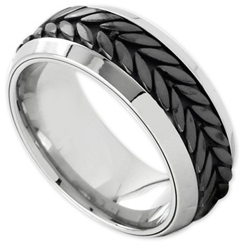 342374-Edward Mirell Men's Titanium Ring