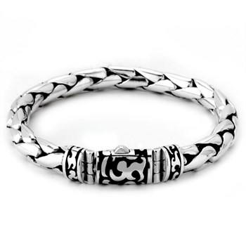 Black Enamel Filigree Bracelet-342802