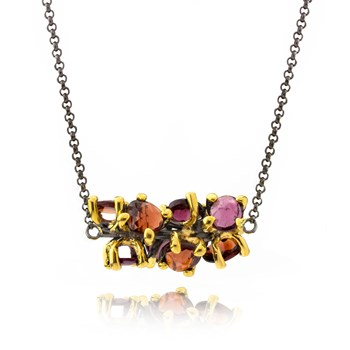 Multi-Color Pendant Necklace-655-3406