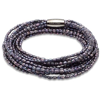 STORY by Kranz & Ziegler 5 Strand Purple Pearl Bracelet RETIRED ONLY 2 LEFT!